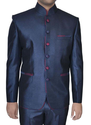 Mens Navy Blue 2 pc Jodhpuri Suit For Engagement