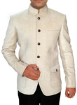 Mens Cream 2 Pc Jodhpuri Suit For Wedding