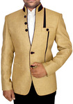 Mens Light Yellow 2 Pc Jodhpuri Suit Designer