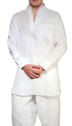 Kurta Pajama for Men White Short Kurta Pyjama Patch Work Kurta Pajama