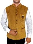Mens Golden Indian jacket Nehru Waistcoat Embroidery Work