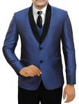 Mens Navy Blue 5 Pc Partywear Suit Two Button