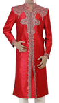 Mens Indian Suit Red Designer Sherwani Ruby's Envy Indo Western Outfit