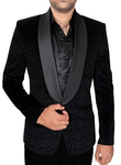 Mens Black 3 Pc Tuxedo Suit Shawl Collar