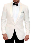 Mens Ivory Polyester 5 Pc Tuxedo Suit One Button