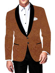 Mens Slim fit Casual Rust Blazer sport jacket coat Casual Two Button