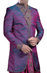 Sherwani for Men Purple Indo Western Sherwani Indian Wedding Clothes