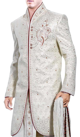 Indian Sherwani for Men Cream Indo Western Embroidered Sherwani kurta Design