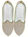 Indian Wedding Shoes For Men Beige Wedding Shoes Floral Design