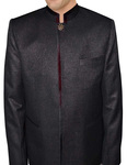Mens Purple Wine Nehru Jacket Concealed Button