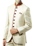 Ivory Mens Fashionable Indian Nehru Collar Jacket