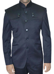 Mens Navy Blue Nehru Jacket Groom Wedding