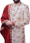 Mens Cream Sherwani Indian Wedding Sherwani Indian Dresses For Men