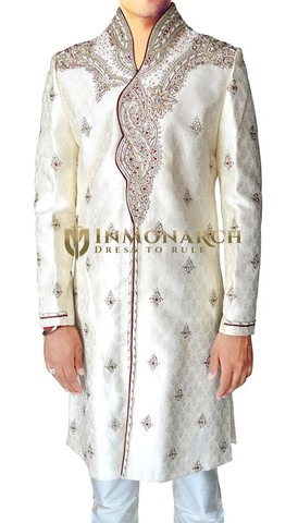 Mens Cream 2 Pc Sherwani Luxurious