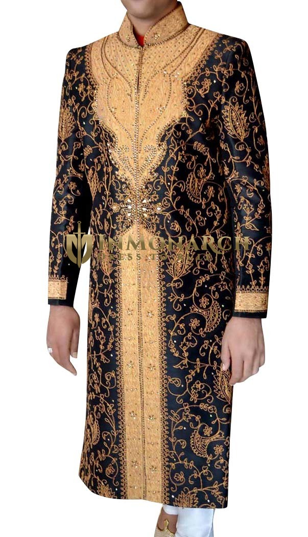 Mens Black 2 Pc Sherwani Absolute