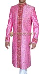 Mens Pink 2 Pc Groom Wedding Sherwani