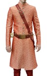 Mens Orange Indian Sherwani