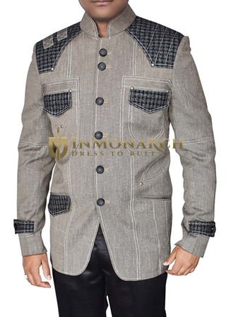 Mens Gray Blazer Superb Traditional Designer