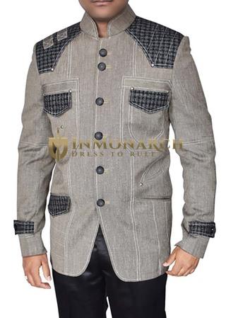 Mens Gray Blazer Superb Traditional Designer