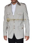 Mens Natural Blazer Stylish Checks