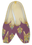 Wine Mens Indian Bridal embroidered Wedding Shoes For Men