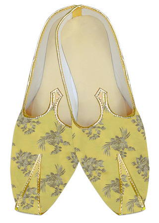 Yellow juti for men Indian Wedding Shoes For groom