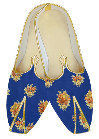 Blue embroidered Traditional juti for men