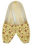 Yellow Embroidered Indian Juti for men sherwani shoes