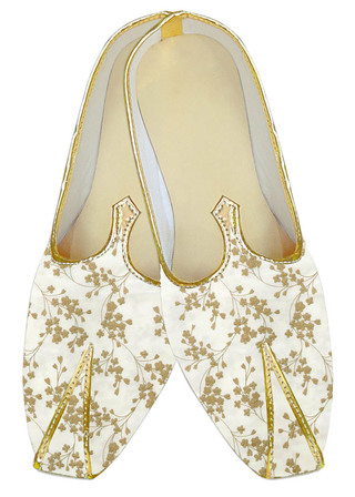 Traditional ivory embroidered wedding shoe for men