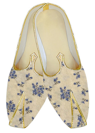Yellow embroidered Indian mens sherwani shoes