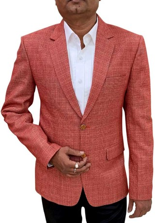 Red checks Mens Blazer sport jacket Coat