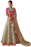 Brocade Cord and gota Embroidered Wedding Lehenga