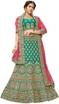 Silk Green Embroidered Bridal Lehenga Choli