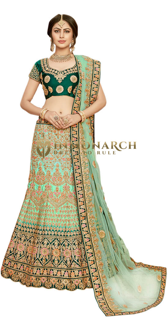 Light Green Designer Lehenga Choli
