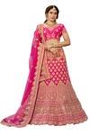 Pure heavy Silk Pink Designer Lehenga