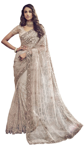 Embroidered Bridal Almond Partywear Saree