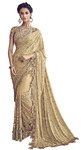 Digital Golden Bridal Embroidered Saree