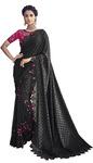 Black Embroidered Wedding Saree