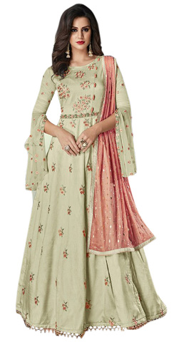 Light Olive Green Partwear Salwar Kameez