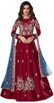 Maroon Silk Bridal Salwar Kameez