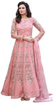 Lovely Pink Net Anarkali Salwar Kameez