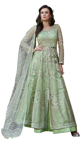 Heavy embroidered Green Designer Salwar Kameez