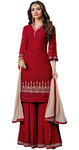 Beautiful Red Georgette Salwar kameez