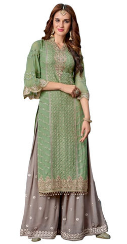 Indian Partywear Green Salwar Kameez