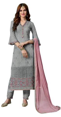 Occasion Wear Grey Salwar Kameez Suit