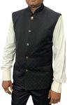Mens jacket Black Nehru Vest for Partywear