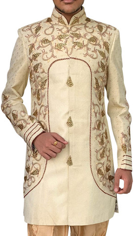 Yellow Mens Sherwani