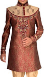 Indian Wedding for Men Burgundy Indo Western Traditional Sherwani