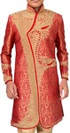 Mens Red Hand Embroidered Designer Sherwani