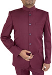 Mens Mulberry Indian Nehru collar Suit Traditional 5 Button